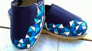 zapatillas en tonos azules