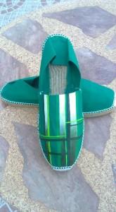 Zapatillas de Daniel Torres en tonos verdes